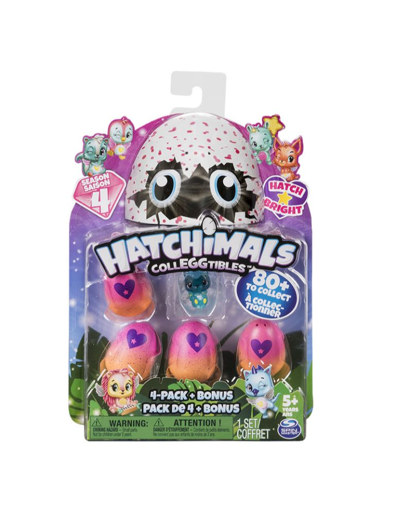 HATCHIMALS X 4 HUEVOS