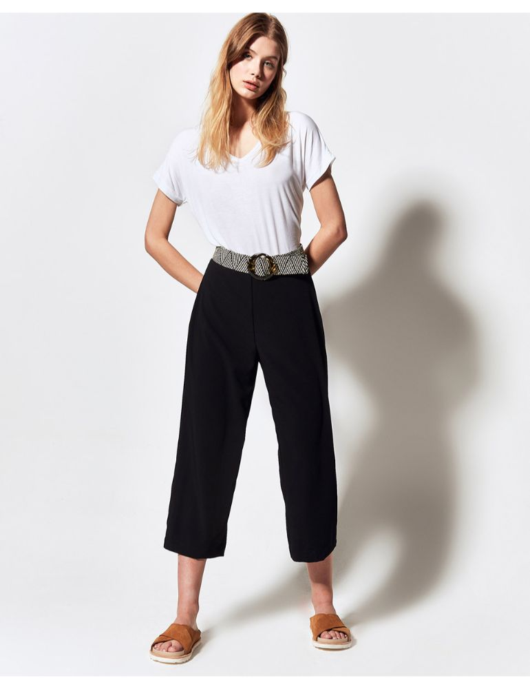 PANTALON NEGRO NIGHT CROPPED LOUVRE