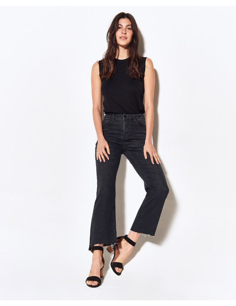 PANTALON JEAN NEGRO COMFORT STRAIGHT MOM