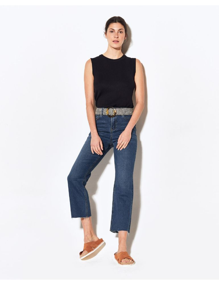 PANTALON JEAN AZUL COMFORT STRAIGHT MOM
