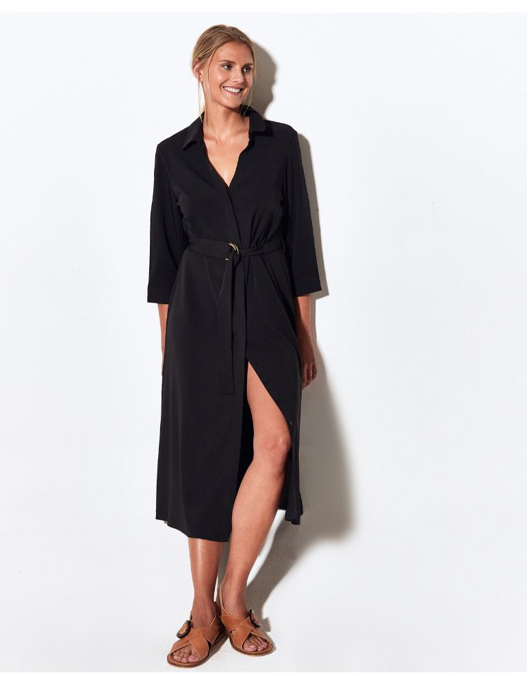 VESTIDO NEGRO CHEMISE NIGHT MARGARET