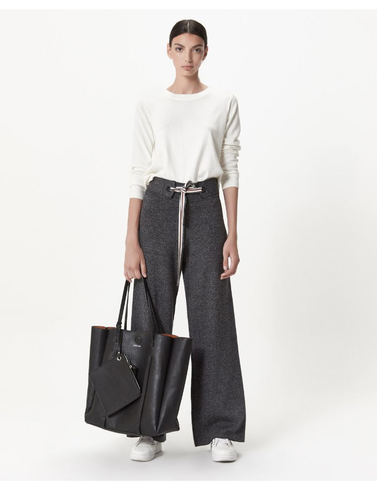 PANTALON GRIS KNITTED WORN OUT MONZAN